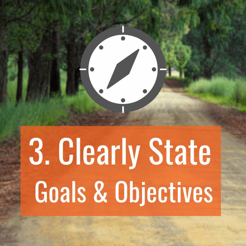 3 Clear Goals