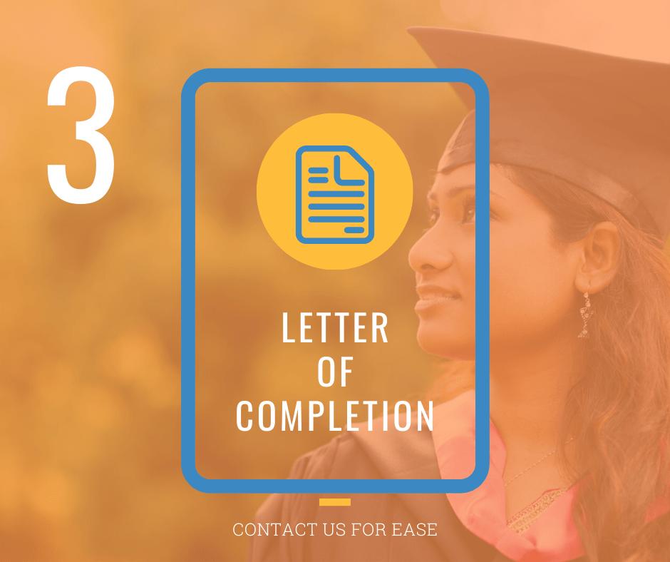 Letter Of Completion